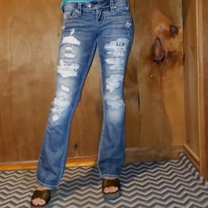 "Silver ""Tuesday"" distressed jeans"